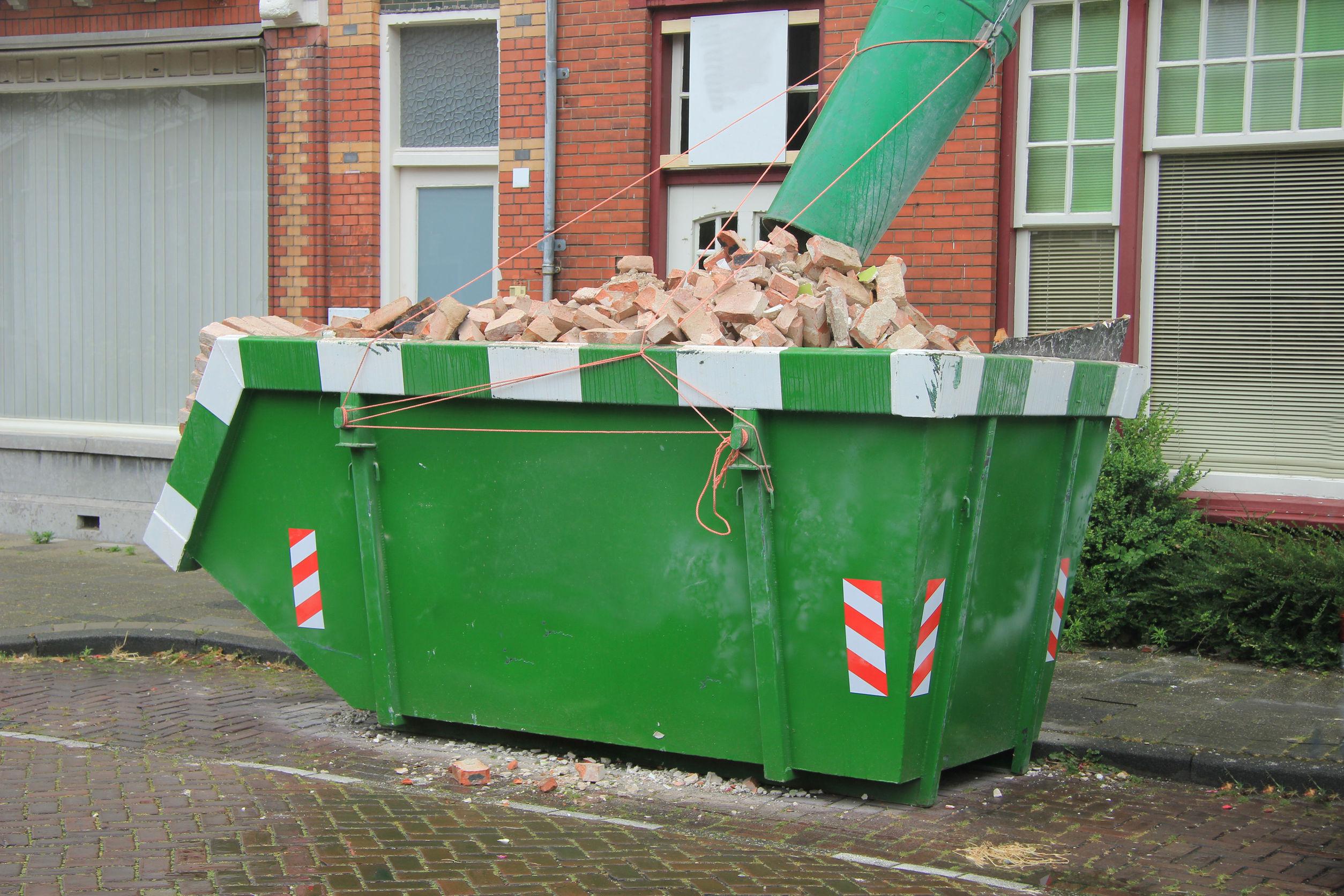 Container huren bestellen afmetingen verbouwen
