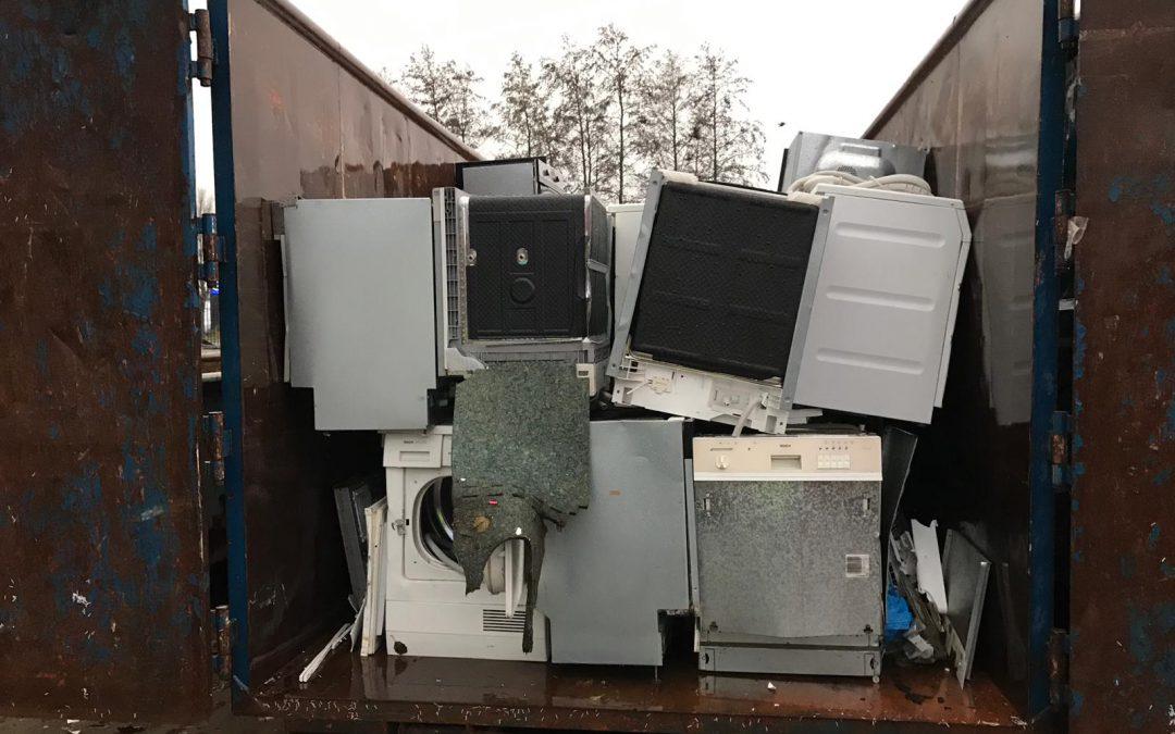 Recycling van elektrische apparaten