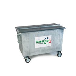 1000 liter staal restafval container huren