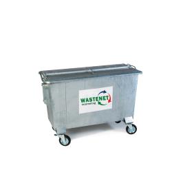 750 liter staal restafval container huren