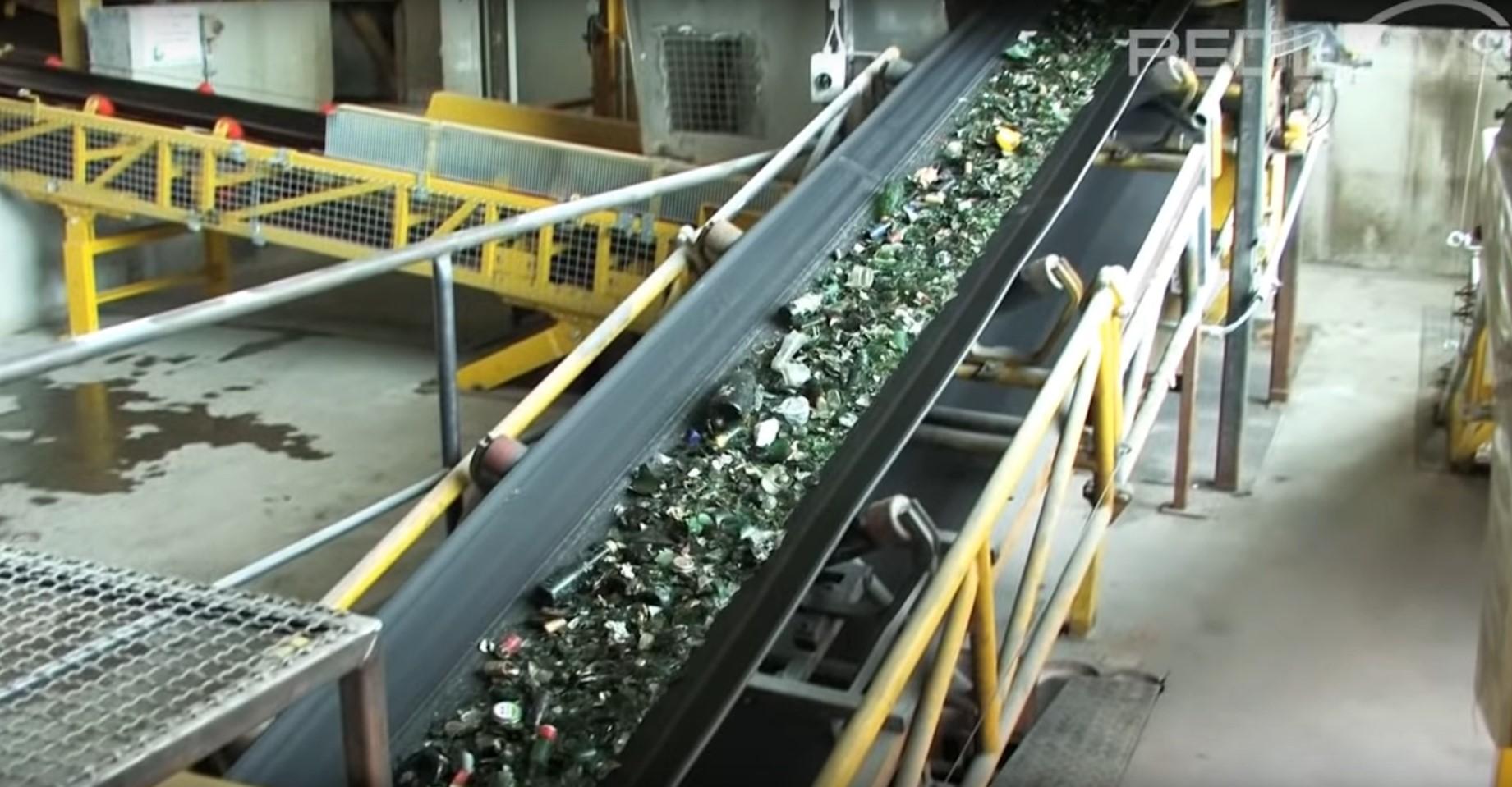 recyclingsproces van glas